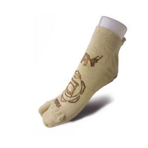 Calza Yoga Natural Revenge con inserti in Rame Copper Ecrue/oro