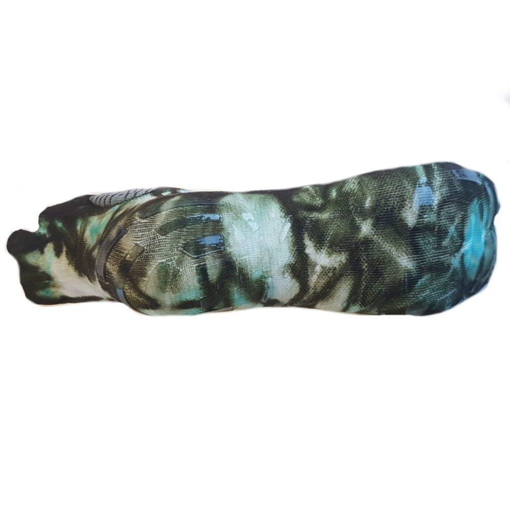 Calza Wellness & FItness Revenge con inserti in Argento Silver camouflage azzurro