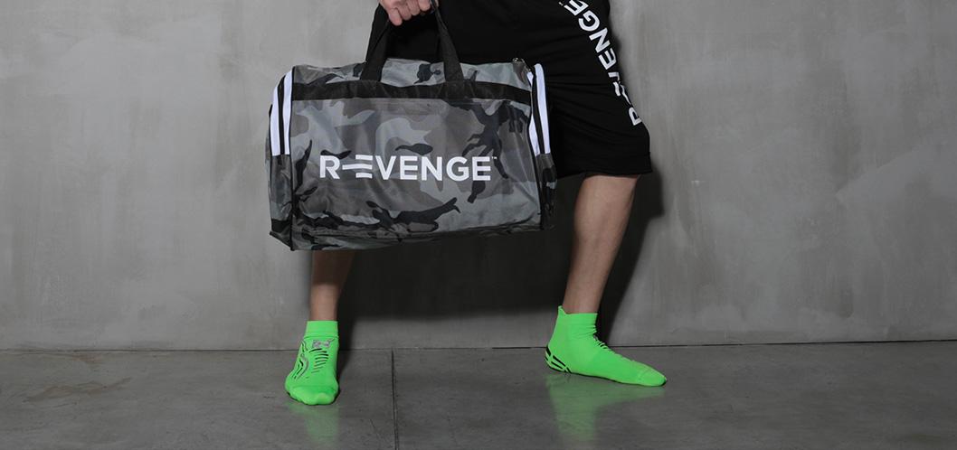 Calza Wellness & FItness Revenge con inserti in Argento Silver verde Fluo