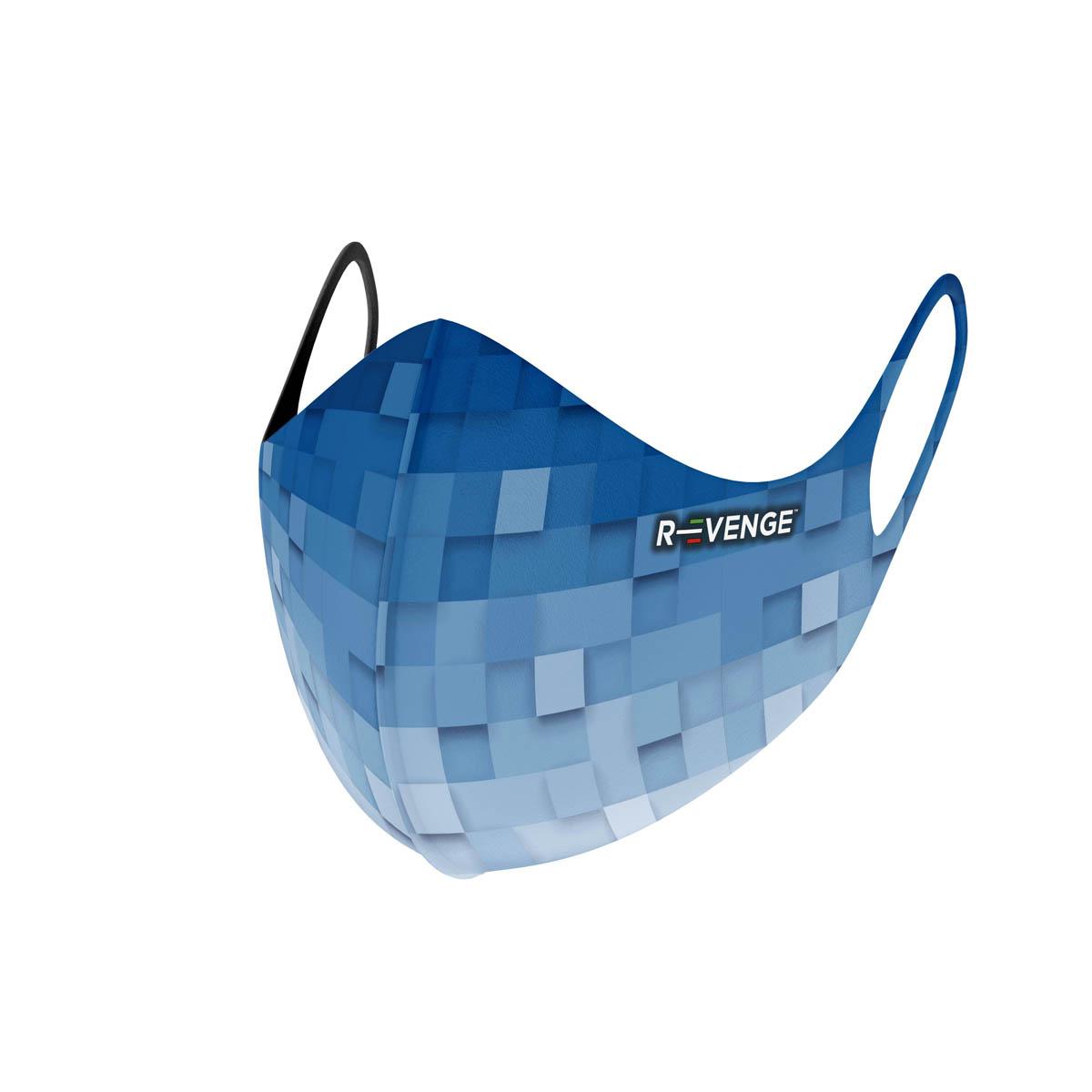 Mascherina Mod.superior pixel blu