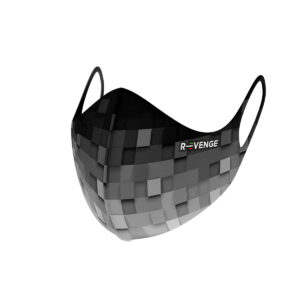 Mascherina Mod.superior pixel grigia
