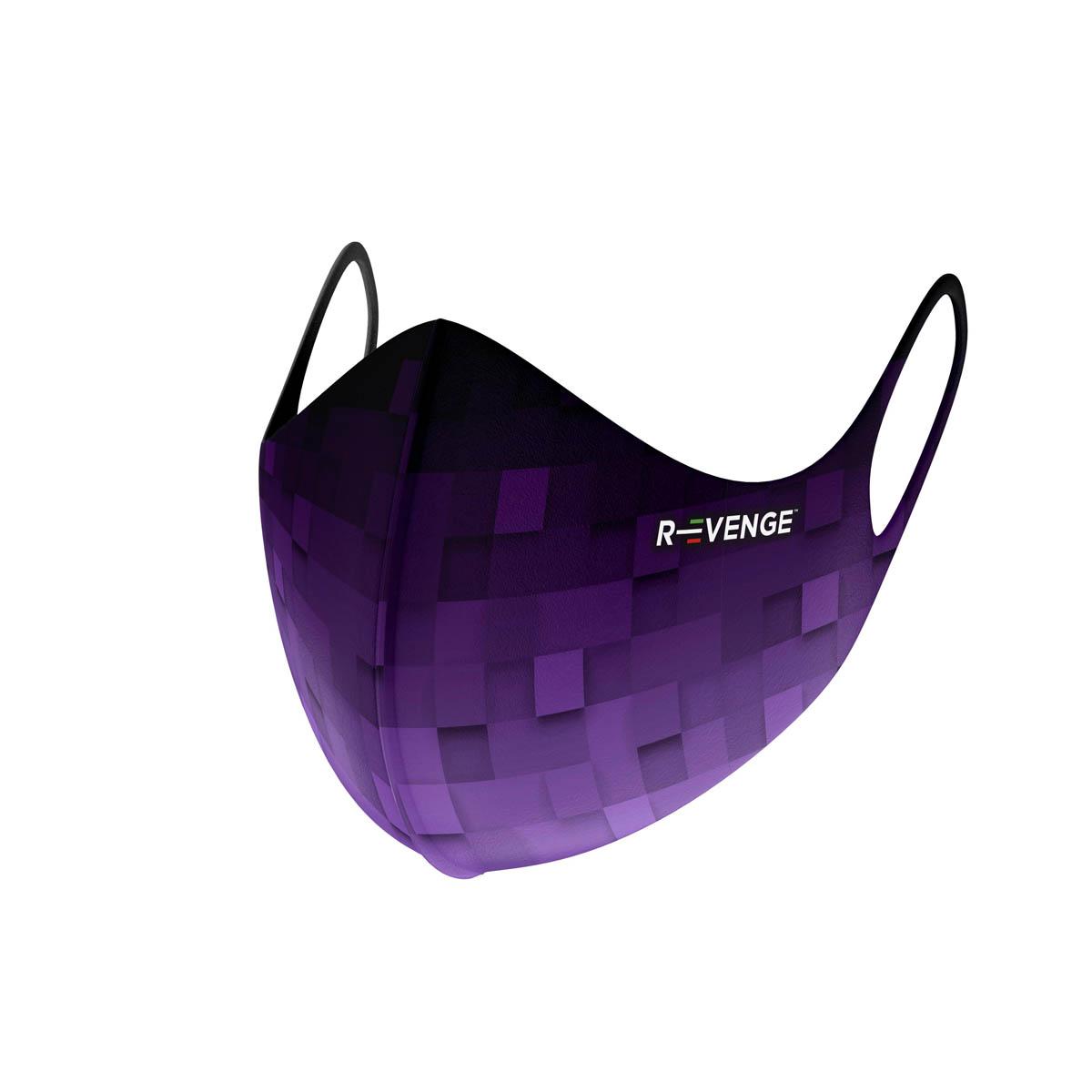Mascherina Mod.superior Pixel viola