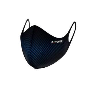 Mascherina Mod.Advance Carbon Blu con filtro