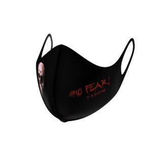 Mascherina Mod.Superior Skull nera/rossa