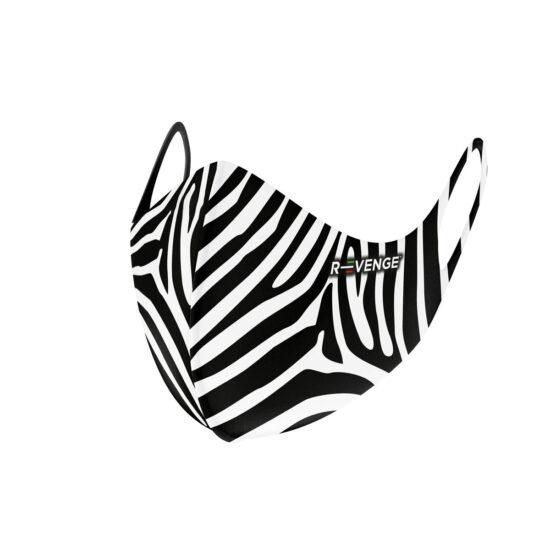 Mascherina Mod.superior zebra nera