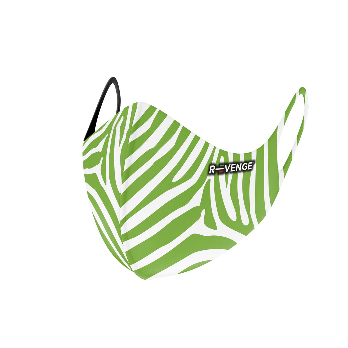 Mascherina Mod.superior zebra verde