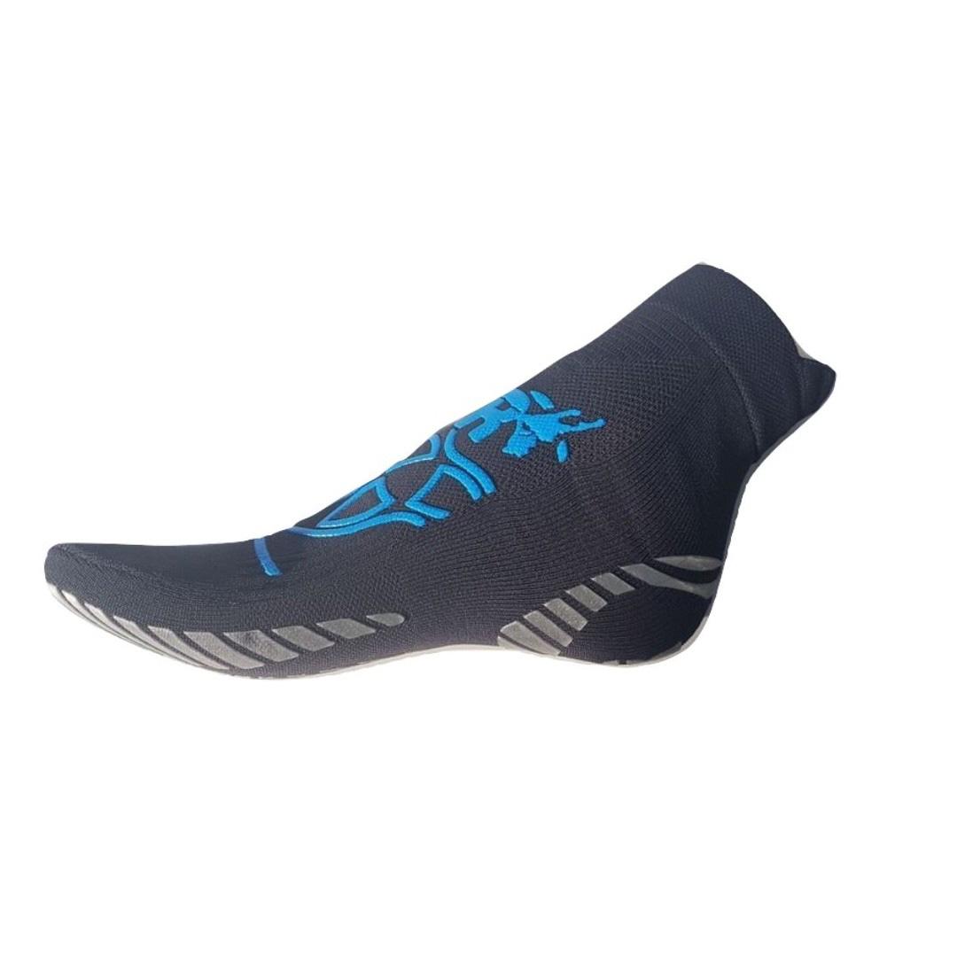 Calza Pilates Revenge con inserti in Argento Silver grigia/blu
