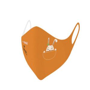 Mascherina Mod.Baby arancio coniglio