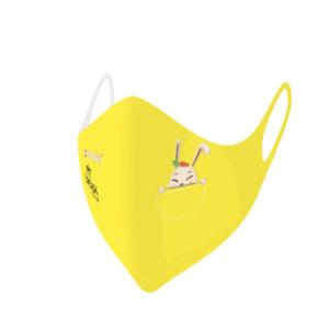 Mascherina Mod.Baby giallo coniglio