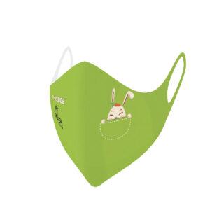 Mascherina Mod.Baby verde coniglio