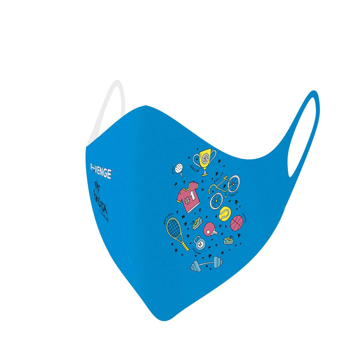 Mascherina Mod.Kids azzurro sport