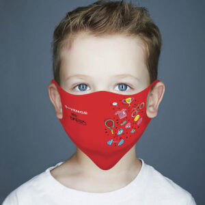 Mascherina Mod.Kids Rossa sport