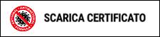 Certificato trattamento idrorepellente e antibatterico