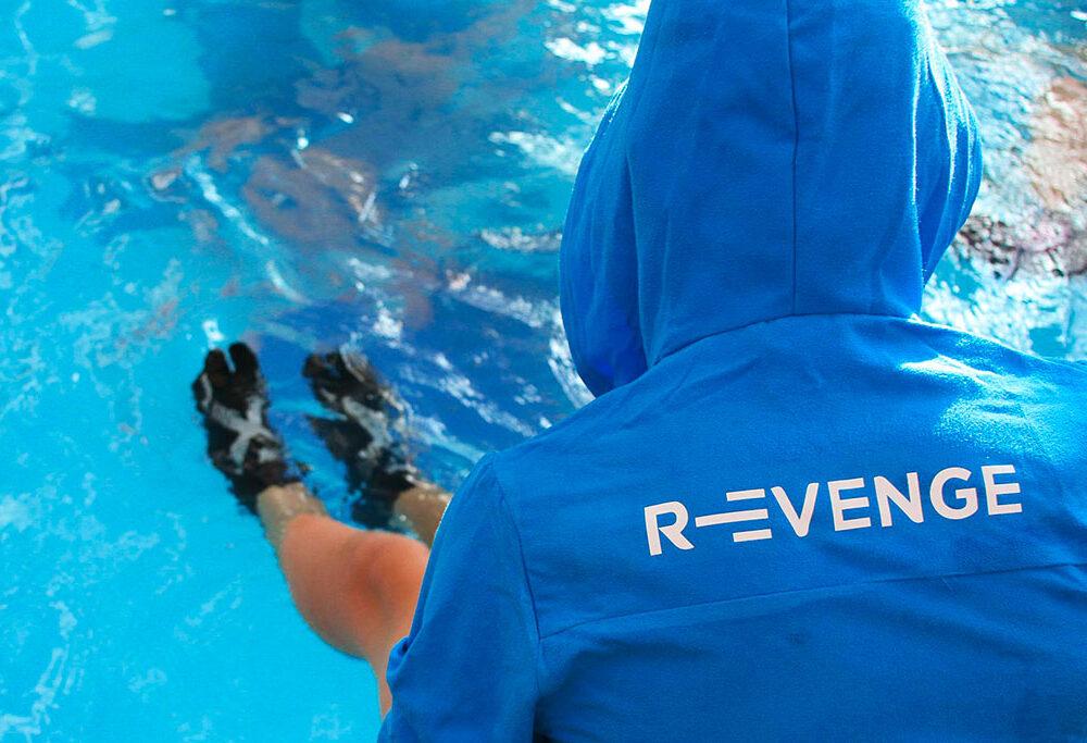 Calza Pool 1Finger Revenge con inserti in Argento Silver Nero/Silver