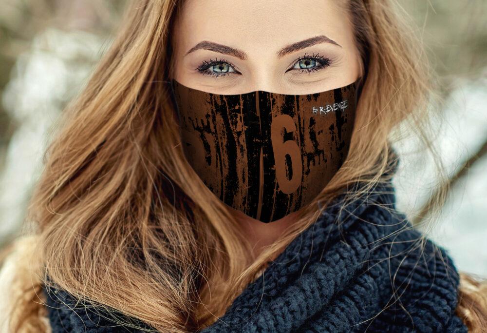 Mascherina Mod.Reverse Wall 6 marrone donna