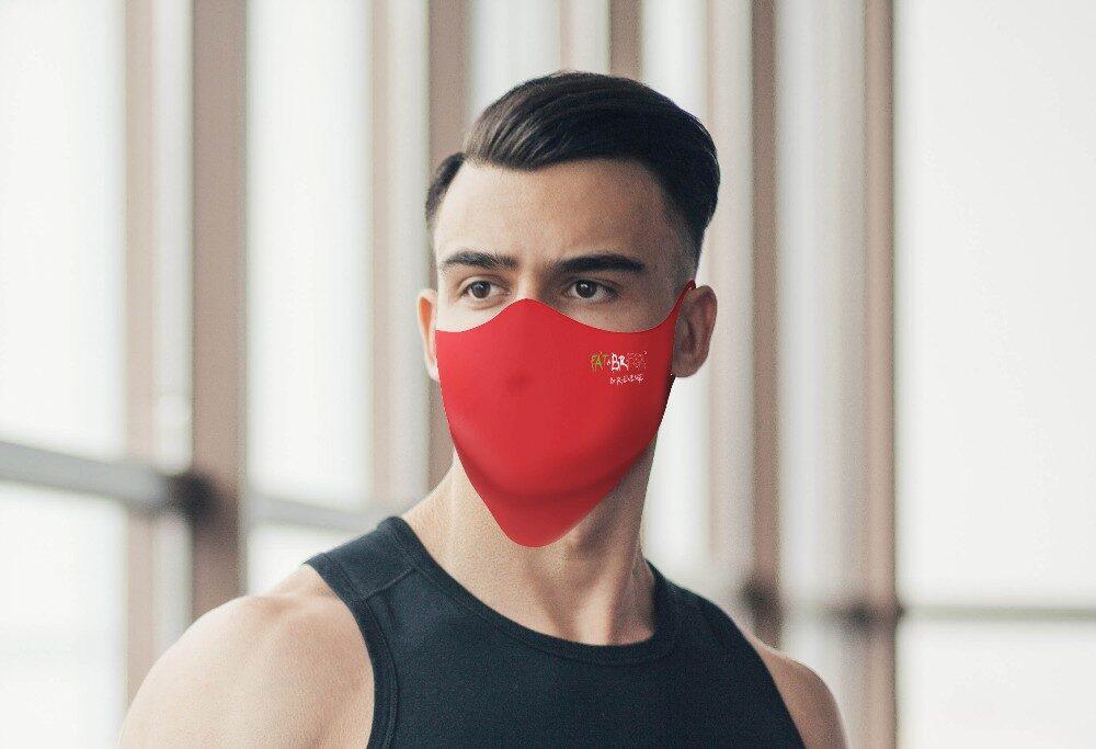 Mascherina Mod.Basic Rossa Uomo