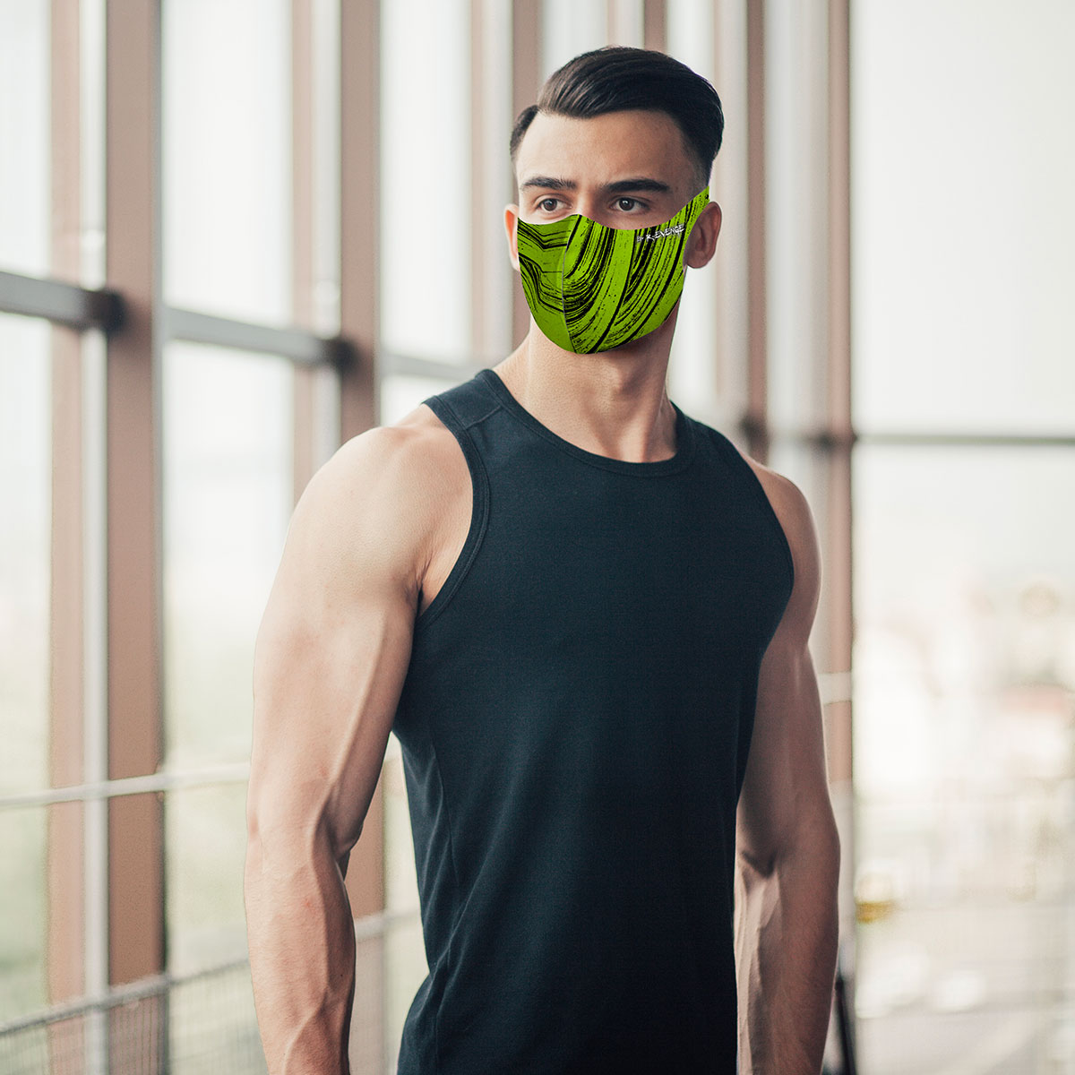 Mascherina Mod.Brush verde uomo