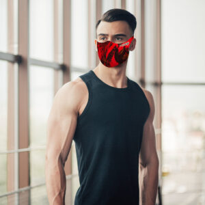 Mascherina Mod.Dissolved rossa uomo